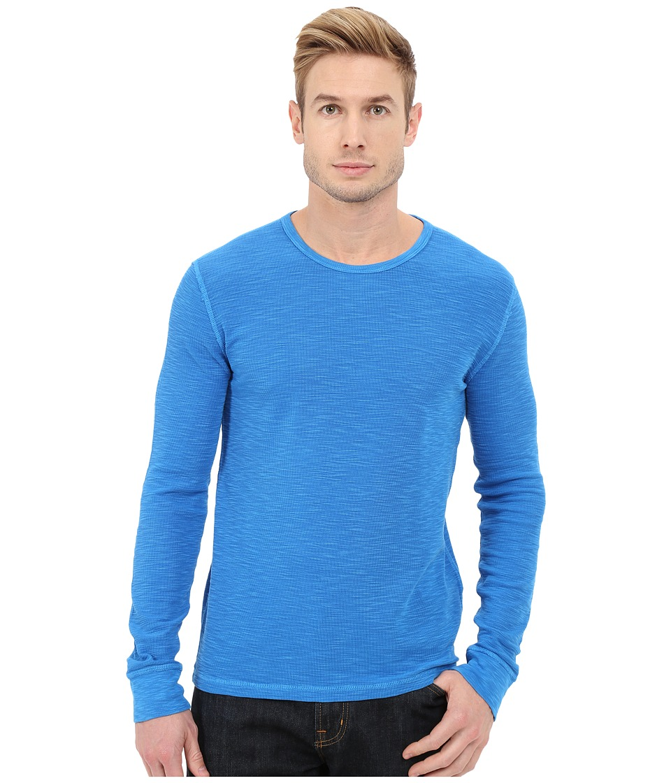 Lucky Brand - Long Sleeve Waffle Crew (Windsor Blue) Men's Sweater