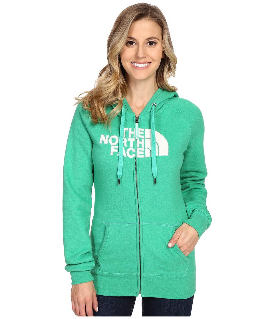 The North Face Avalon Full Zip Hoodie (Blarney Green Heather/Vaporous Grey) Women