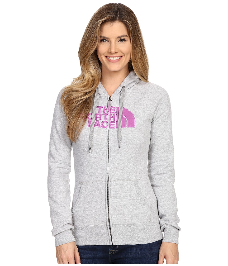 The North Face - Avalon Full Zip Hoodie (TNF Light Grey Heather/Sweet Violet) Women's Sweatshirt