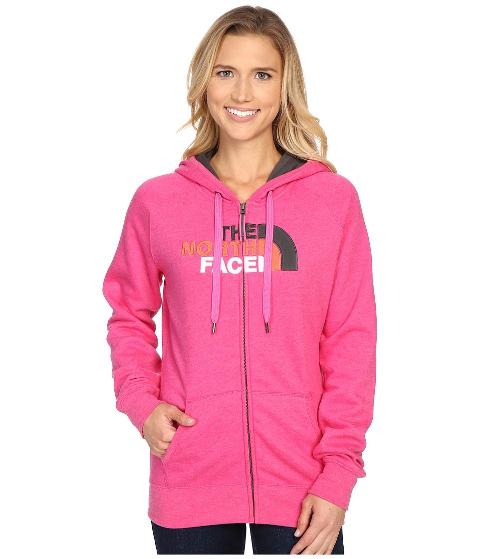 The North Face - Avalon Full Zip Hoodie (Raspberry Rose Heather/Asphalt Grey Multi) Women's Sweatshirt
