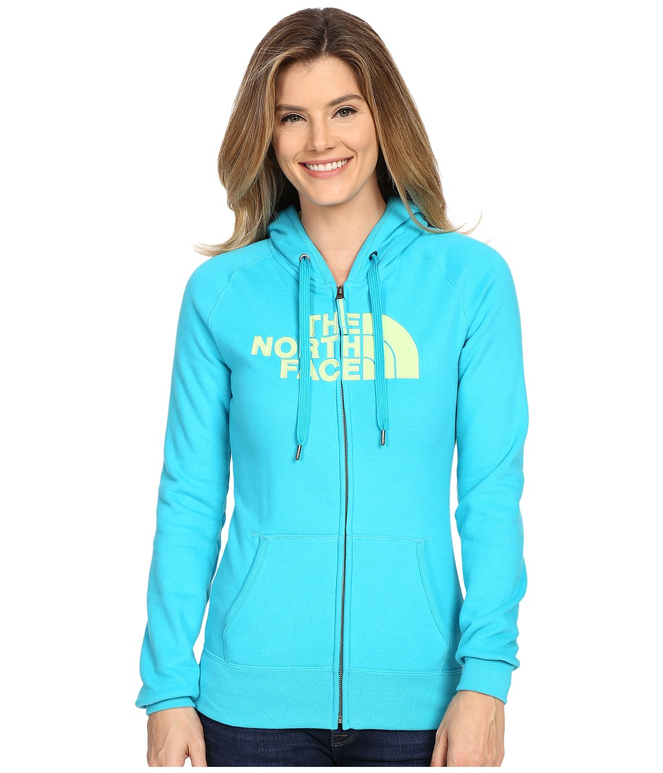 The North Face Avalon Full Zip Hoodie (Bluebird/Budding Green) Women