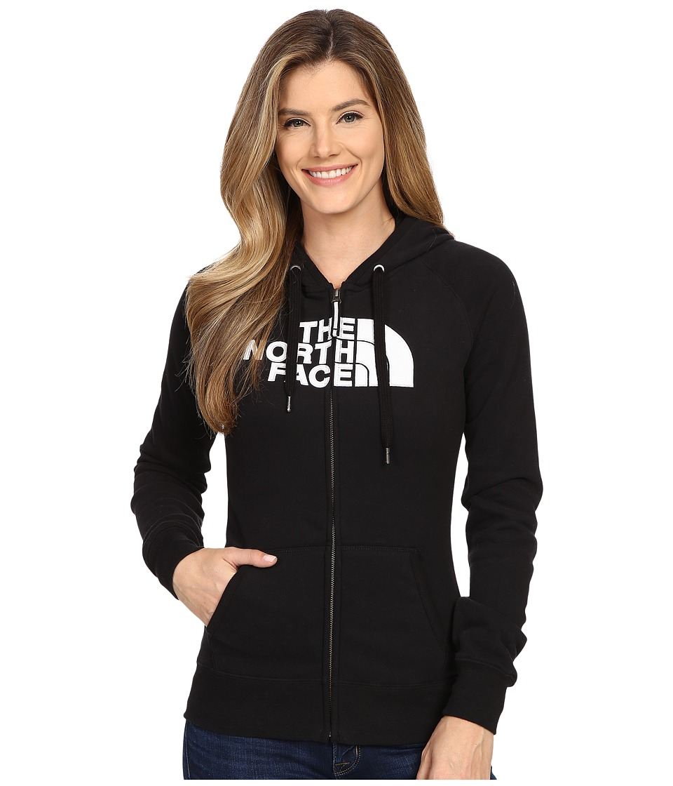 The North Face - Avalon Full Zip Hoodie (TNF Black/TNF White) Women's Sweatshirt
