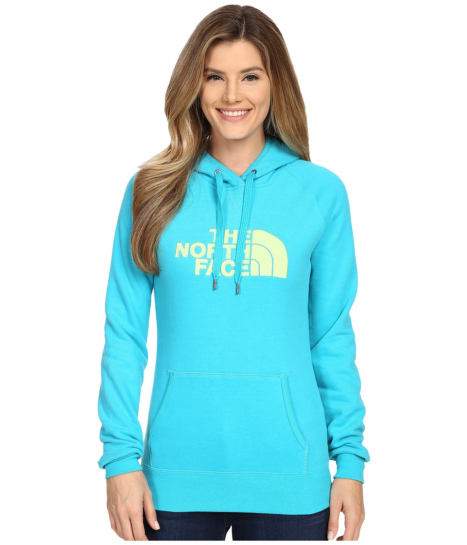 The North Face - Avalon Pullover Hoodie (Bluebird/Budding Green) Women's Sweatshirt