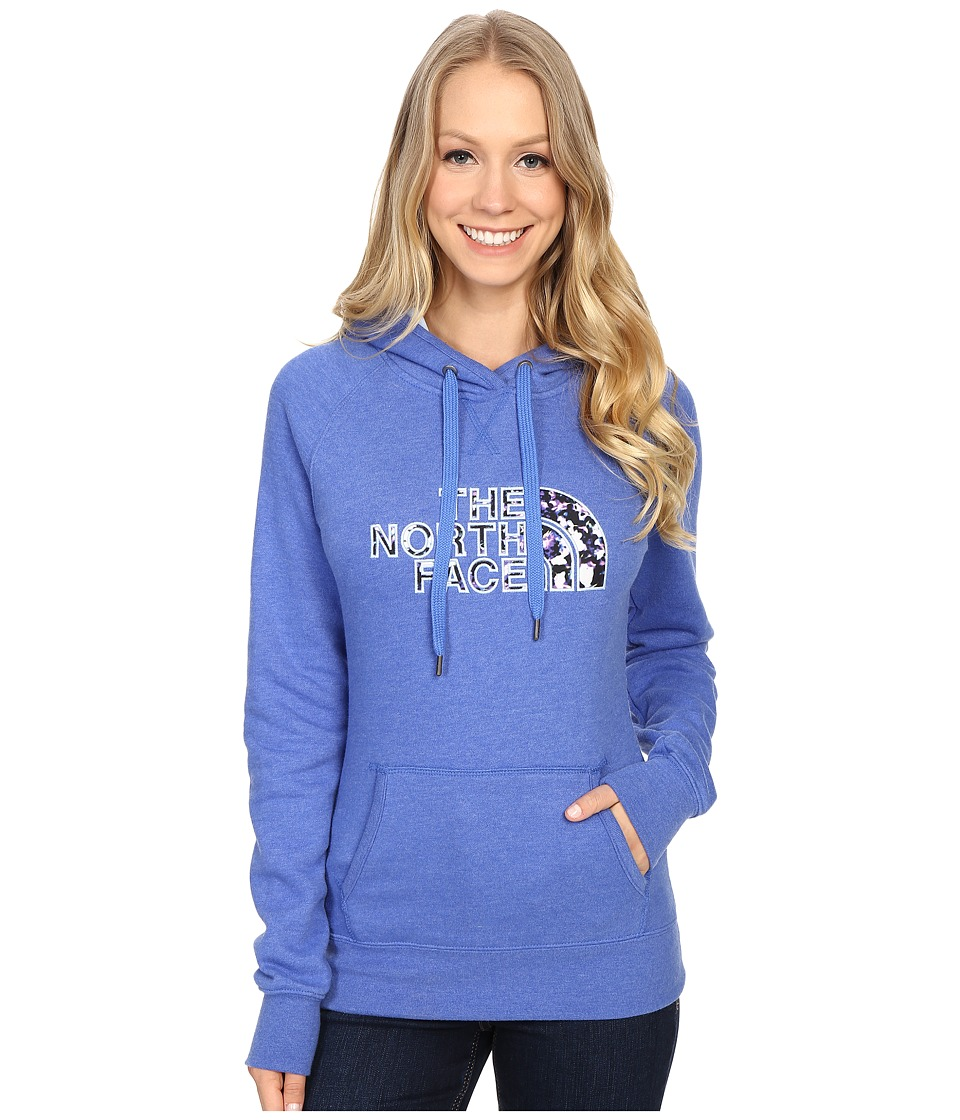 The North Face Avalon Crystal Floral Pullover Hoodie (Coastline Blue Heather) Women