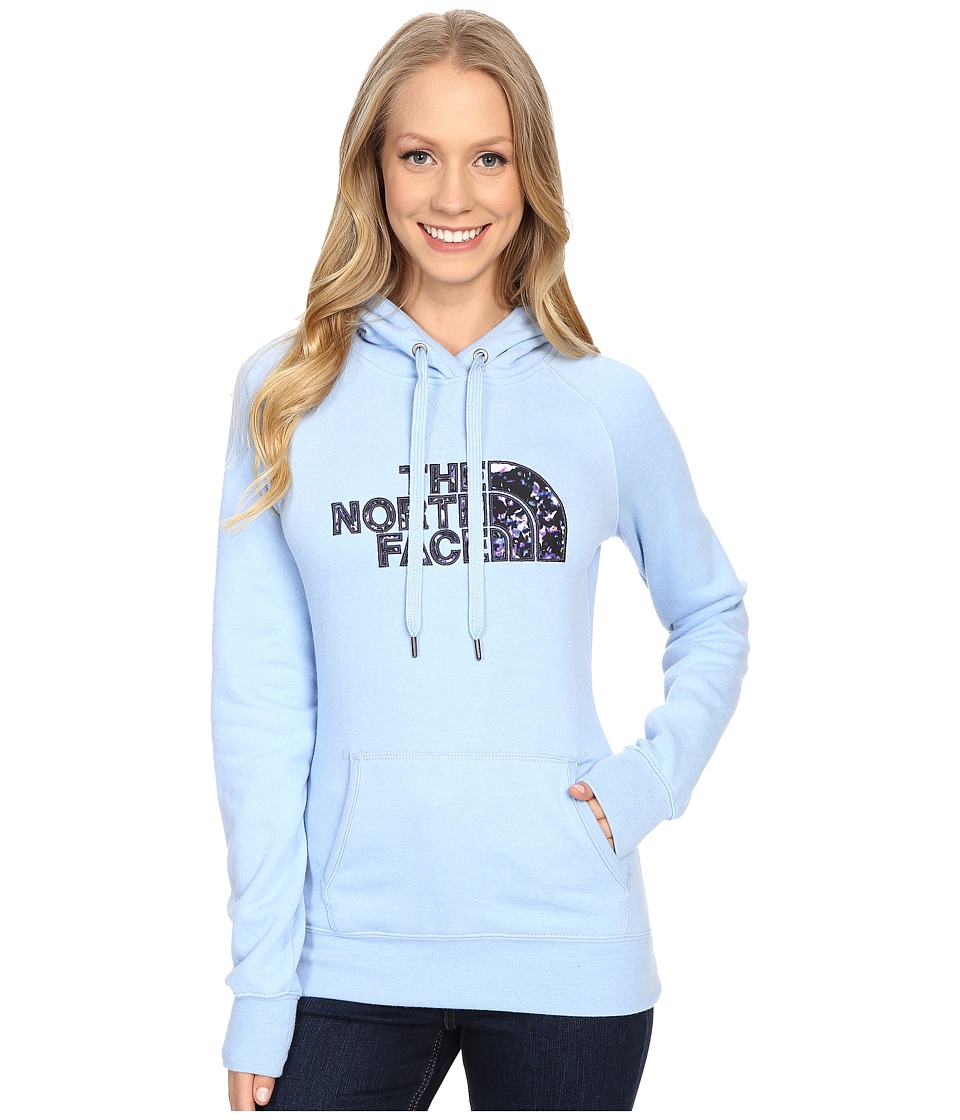 The North Face Avalon Crystal Floral Pullover Hoodie (Powder Blue Heather) Women