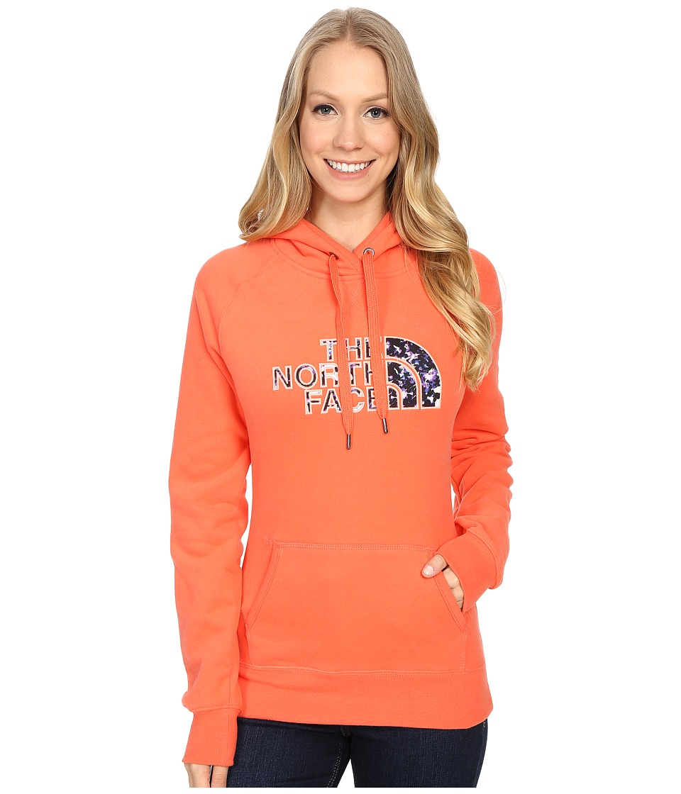 The North Face Avalon Crystal Floral Pullover Hoodie (Radiant Orange) Women