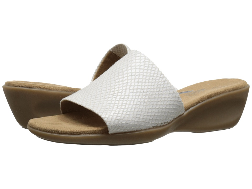 Aerosoles - Badminton (White Snake) Women's Slide Shoes