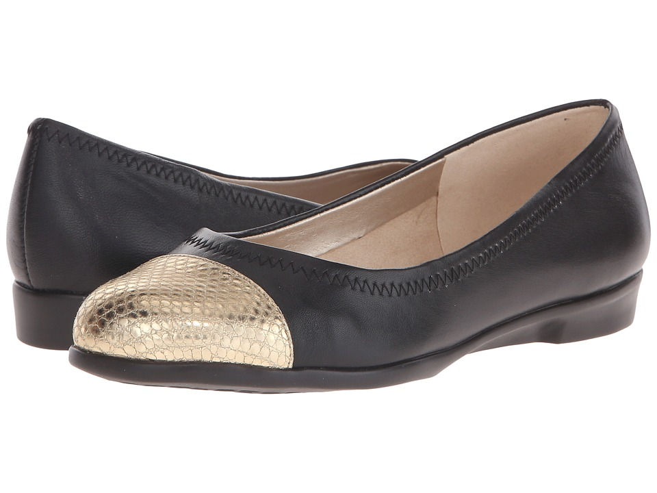 Aerosoles Bechnicolor (Black Leather) Women