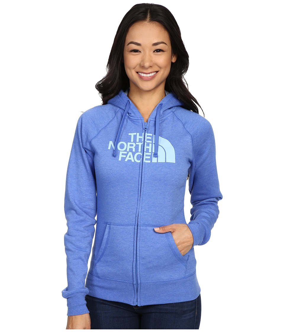 The North Face - Half Dome Full Zip Hoodie (Coastline Blue Heather/Powder Blue) Women's Fleece