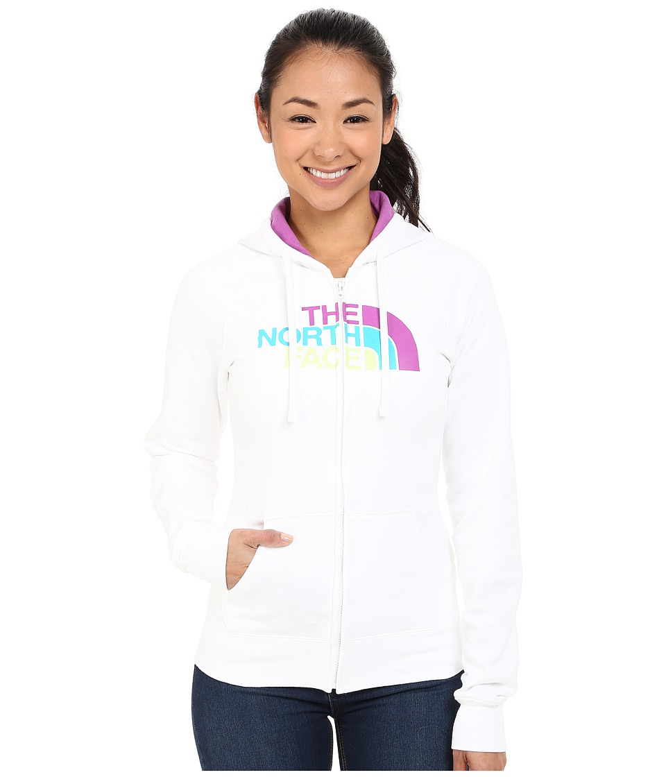 The North Face - Half Dome Full Zip Hoodie (TNF White/Sweet Violet Multi) Women's Fleece