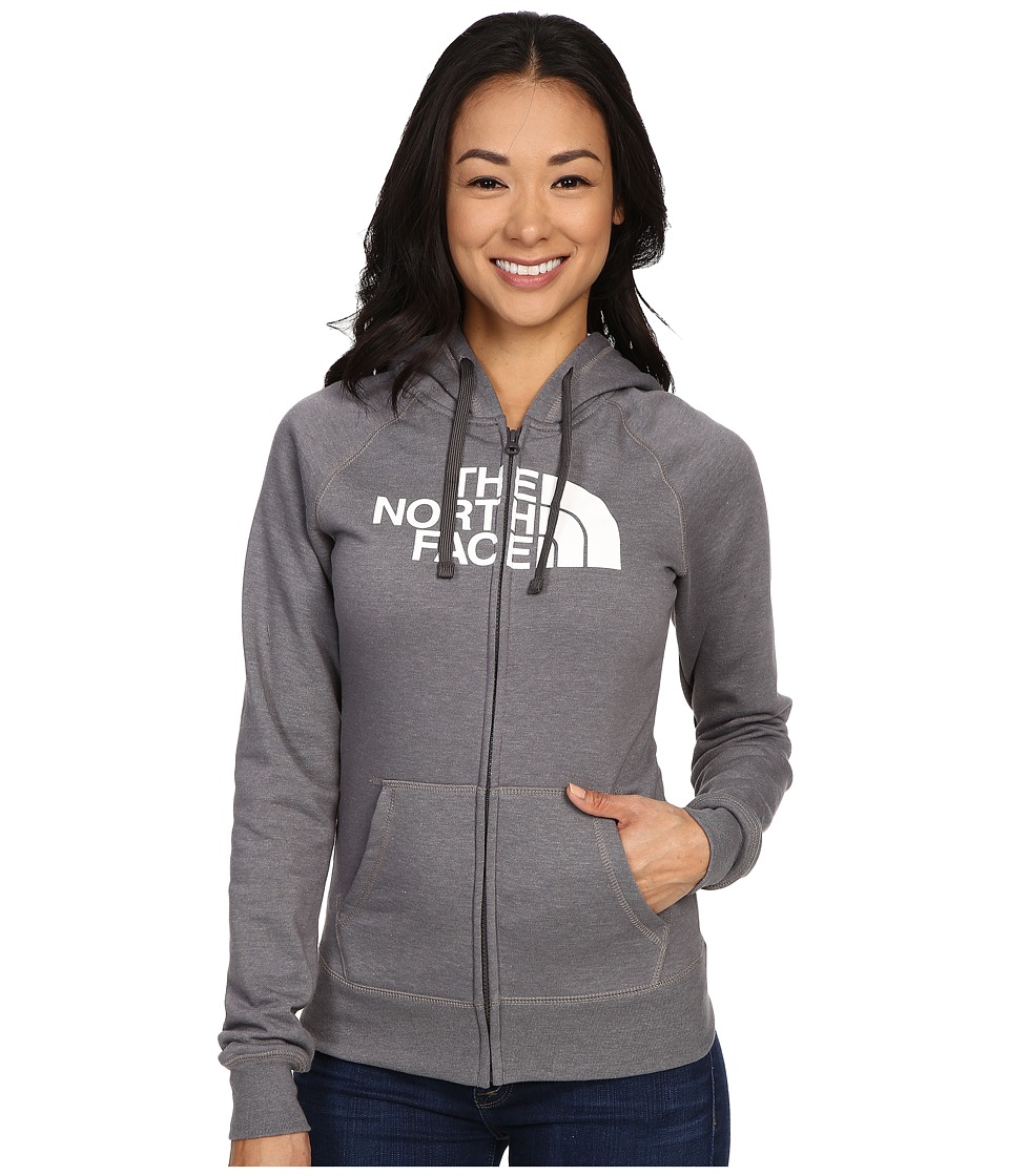 The North Face - Half Dome Full Zip Hoodie (TNF Medium Grey Heather/TNF White) Women's Fleece