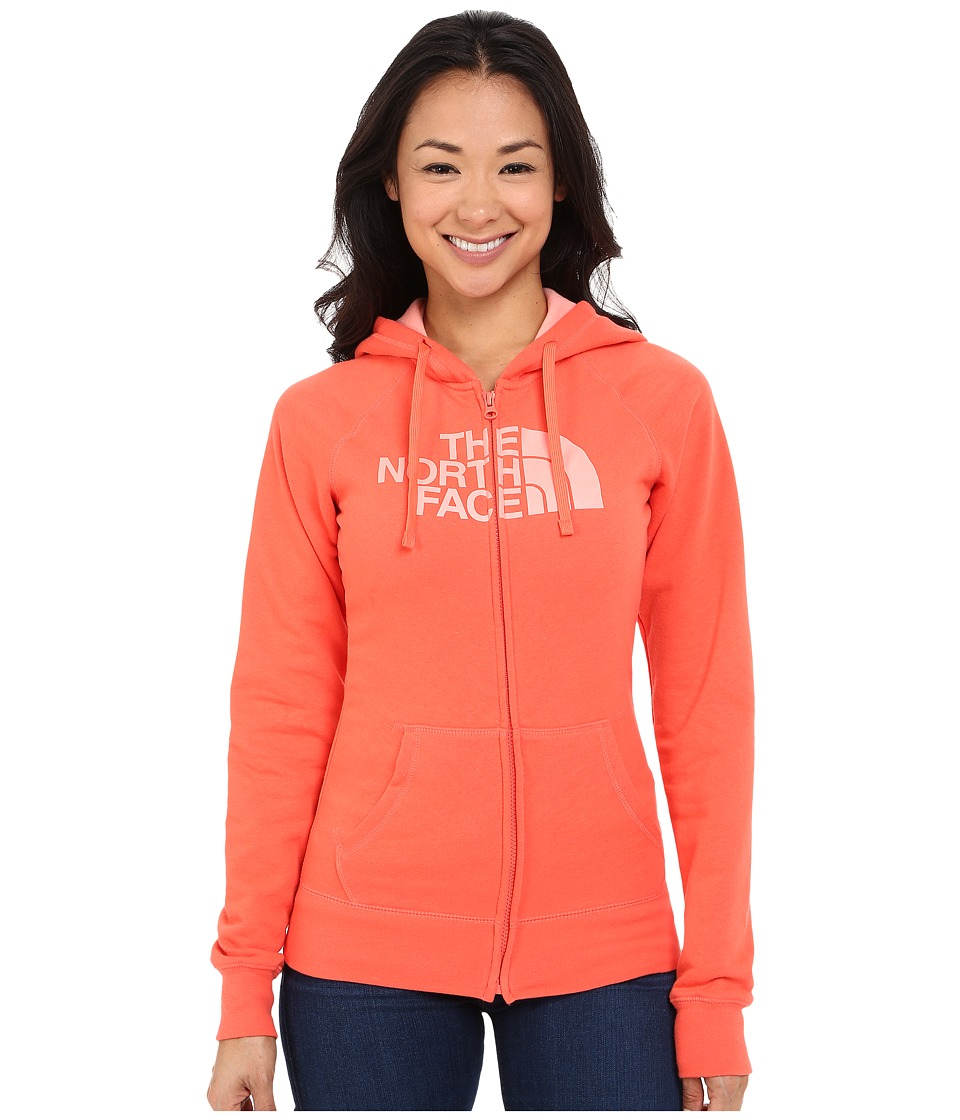 The North Face - Half Dome Full Zip Hoodie (Radiant Orange/Neon Peach) Women's Fleece