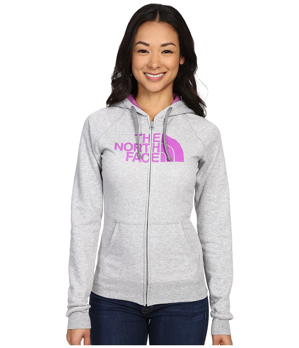 The North Face - Half Dome Full Zip Hoodie (TNF Light Grey Heather/Sweet Violet) Women's Fleece