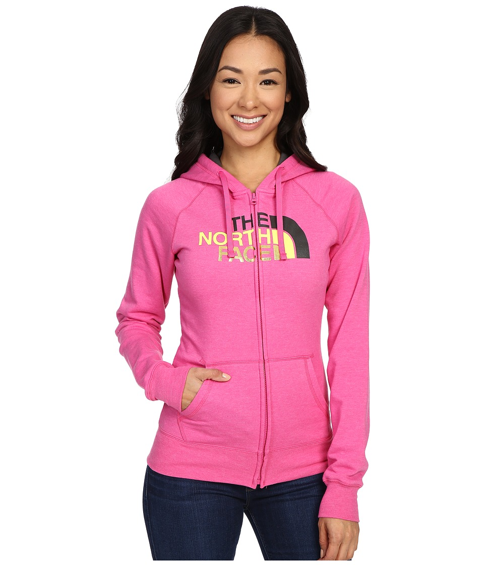 The North Face - Half Dome Full Zip Hoodie (Raspberry Rose Heather/Asphalt Grey Multi) Women's Fleece