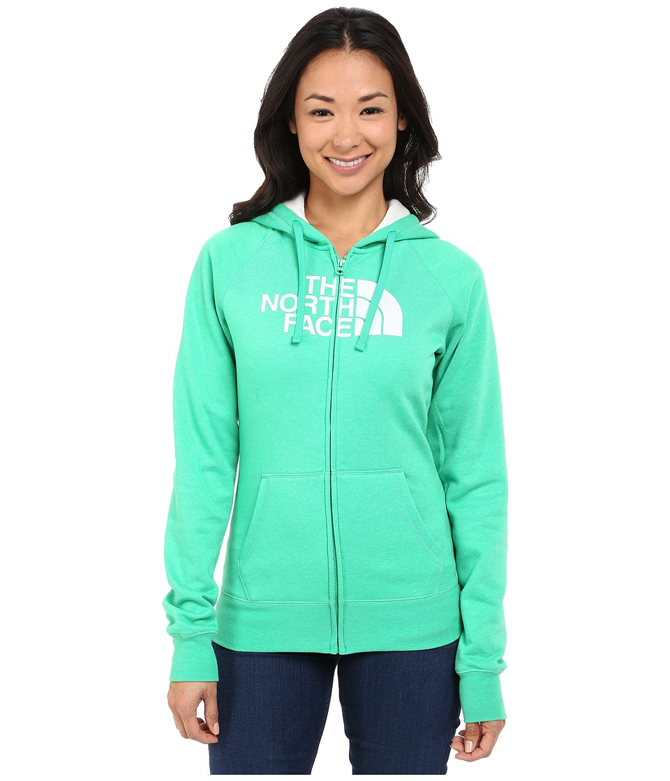 The North Face - Half Dome Full Zip Hoodie (Blarney Green Heather/Vaporous Grey) Women's Fleece