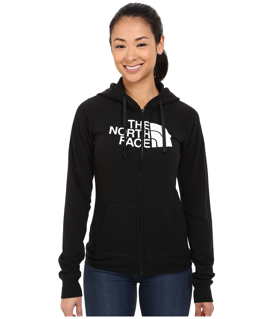 The North Face - Half Dome Full Zip Hoodie (TNF Black/TNF White 1) Women's Fleece