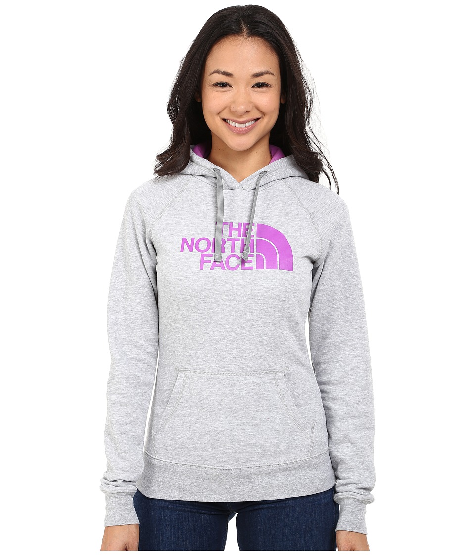 The North Face Half Dome Hoodie (TNF Light Grey Heather/Sweet Violet) Women