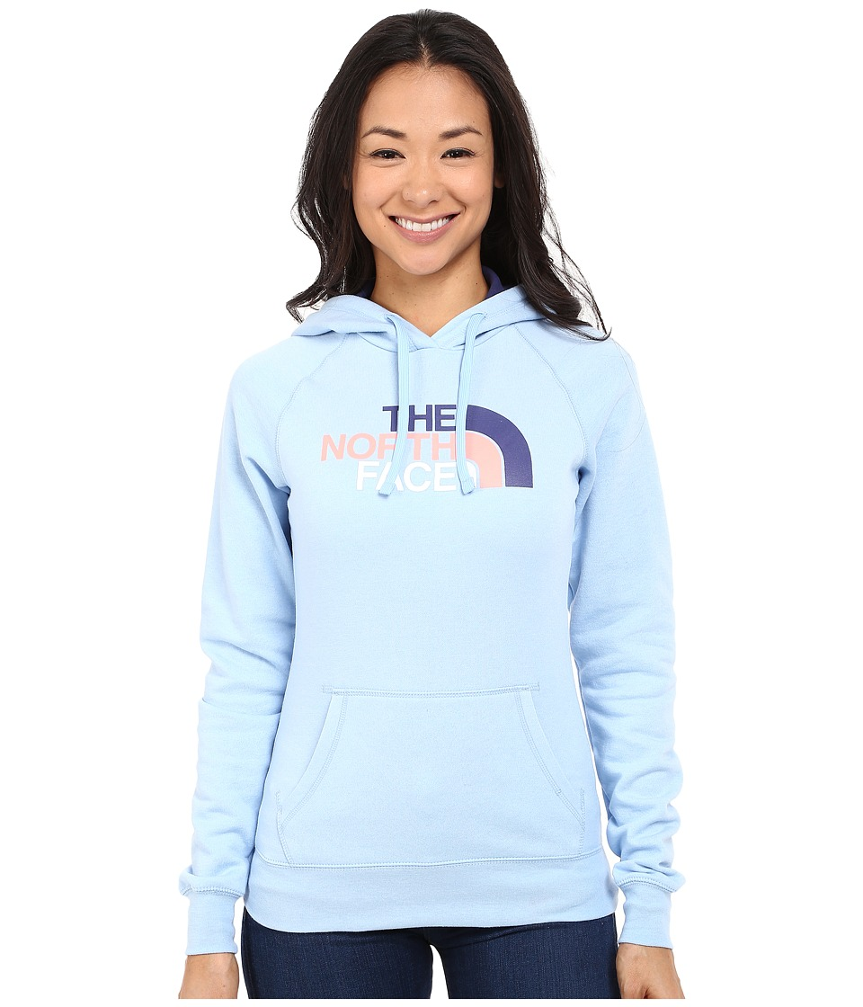 The North Face - Half Dome Hoodie (Powder Blue Heather/Patriot Blue Multi) Women's Sweatshirt