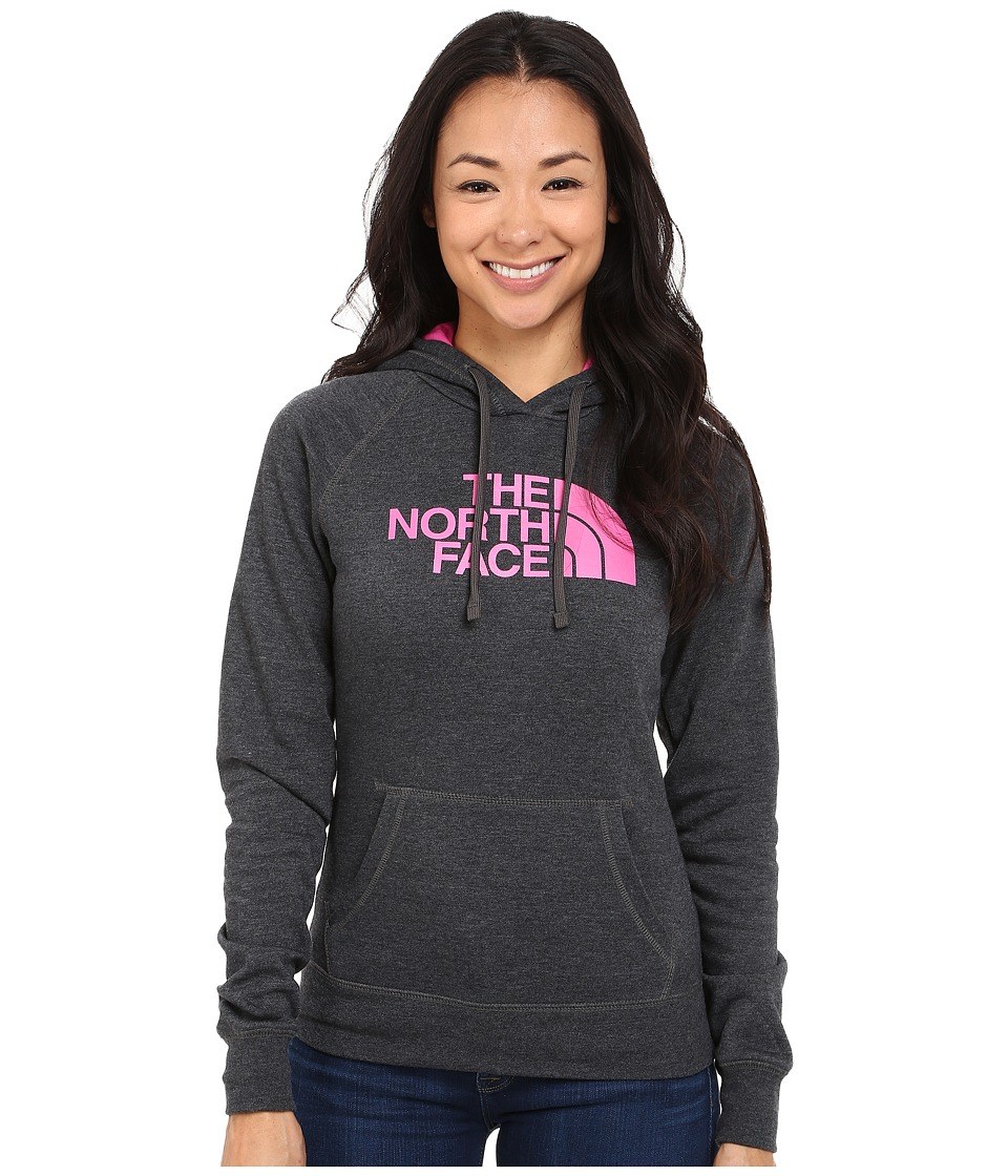 The North Face - Half Dome Hoodie (TNF Dark Grey Heather/Raspberry Rose) Women's Sweatshirt