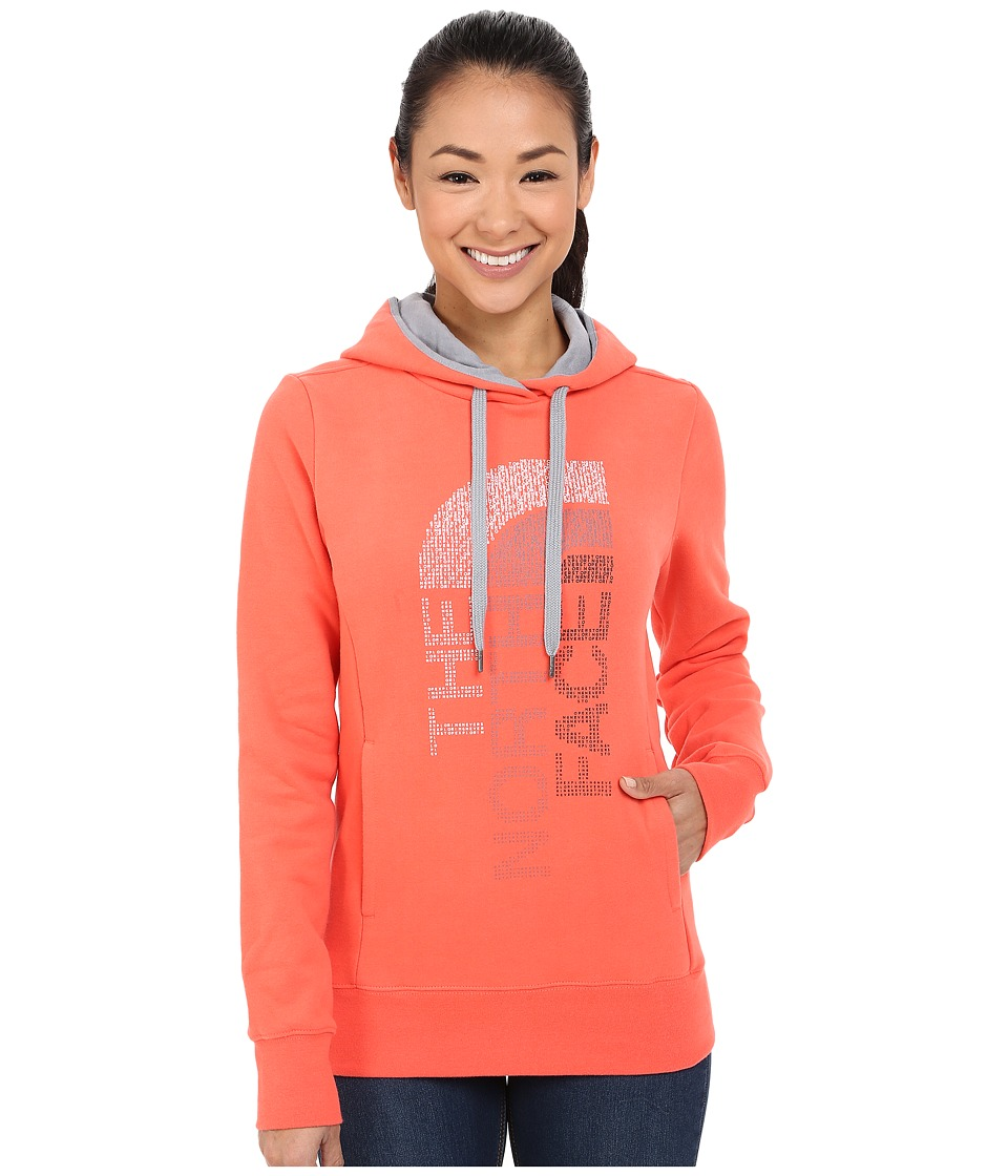The North Face - TriVert Logo Pullover Hoodie (Radiant Orange/Mid Grey) Women's Sweatshirt