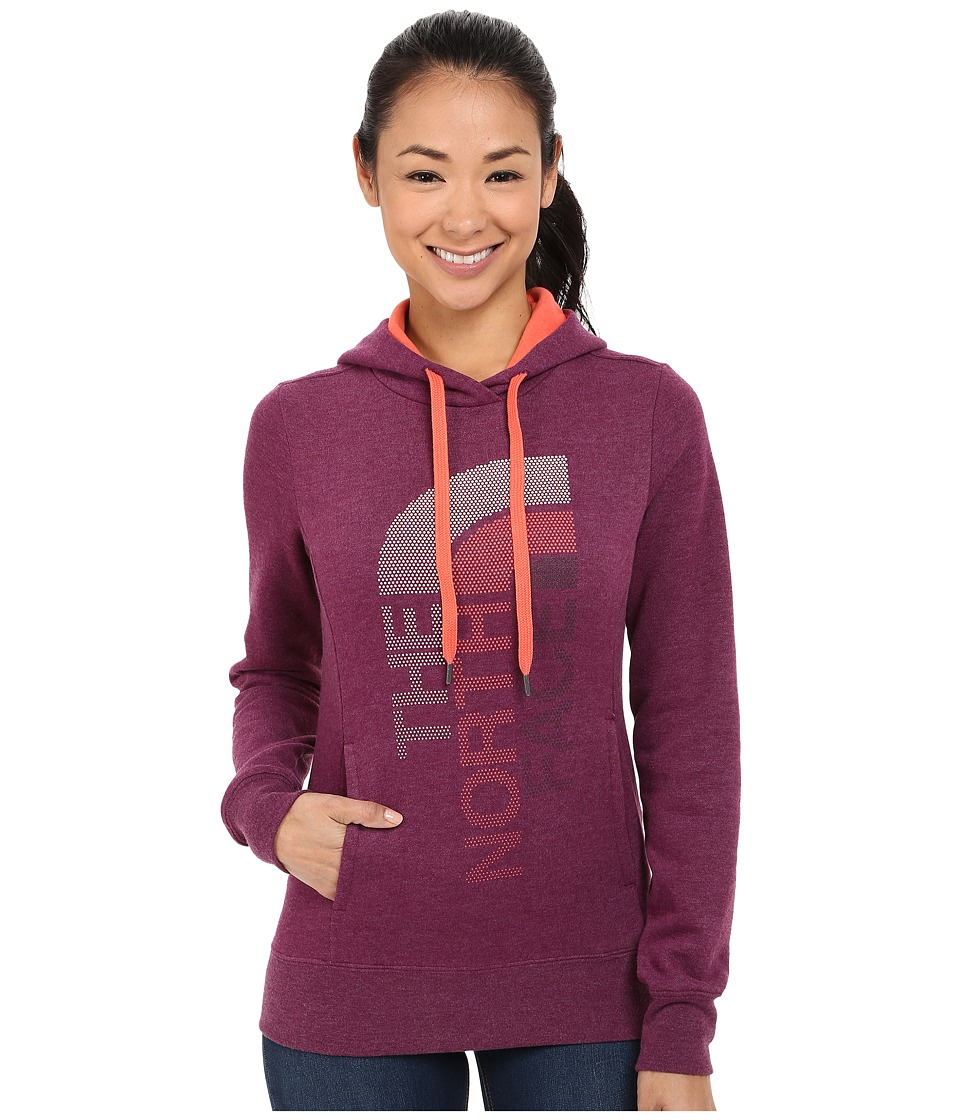 The North Face - TriVert Logo Pullover Hoodie (Pamplona Purple Heather/Radiant Orange) Women's Sweatshirt