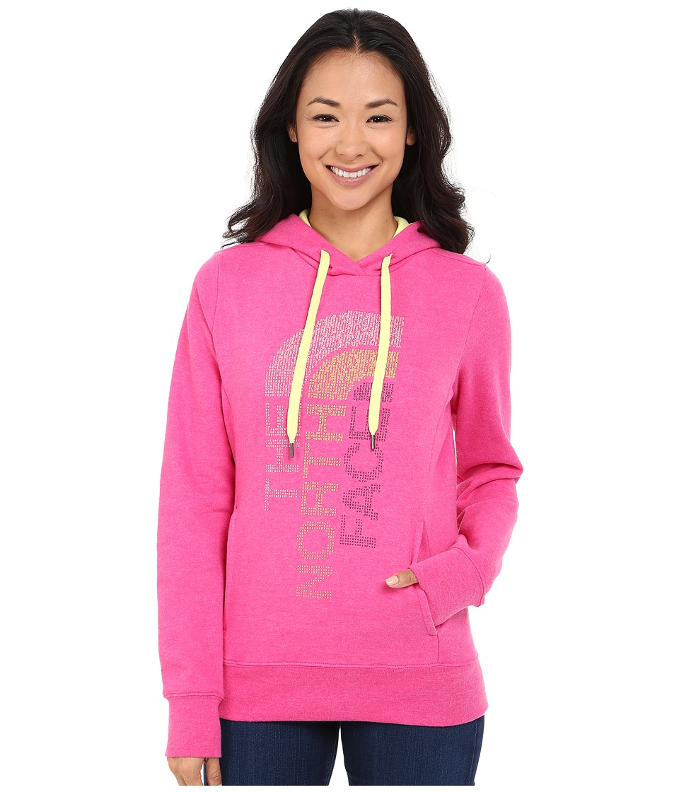 The North Face - TriVert Logo Pullover Hoodie (Raspberry Rose Heather/Hamachi Yellow) Women's Sweatshirt