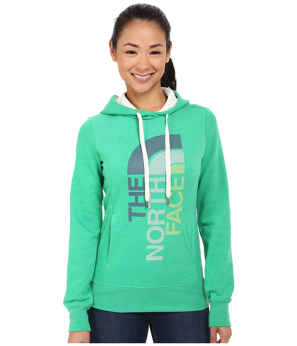 The North Face - TriVert Logo Pullover Hoodie (Blarney Green Heather/Vaporous Grey) Women's Sweatshirt