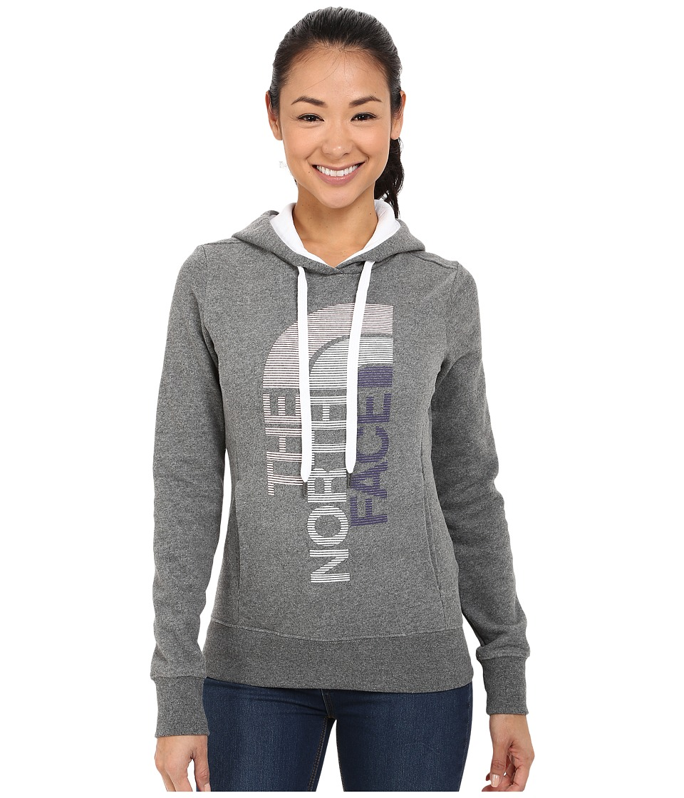 The North Face - TriVert Logo Pullover Hoodie (TNF Medium Grey Heather/TNF White) Women's Sweatshirt