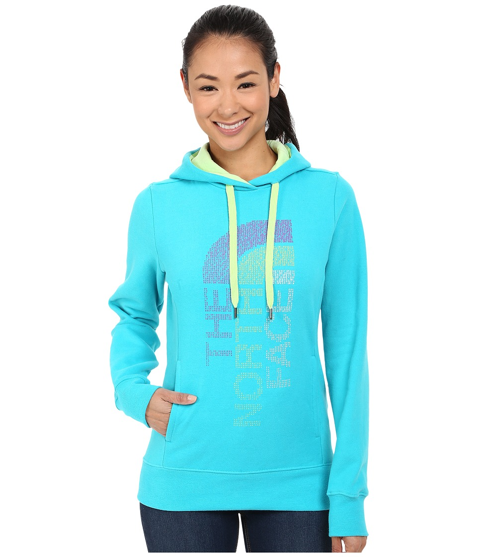 The North Face TriVert Logo Pullover Hoodie (Bluebird/Budding Green) Women