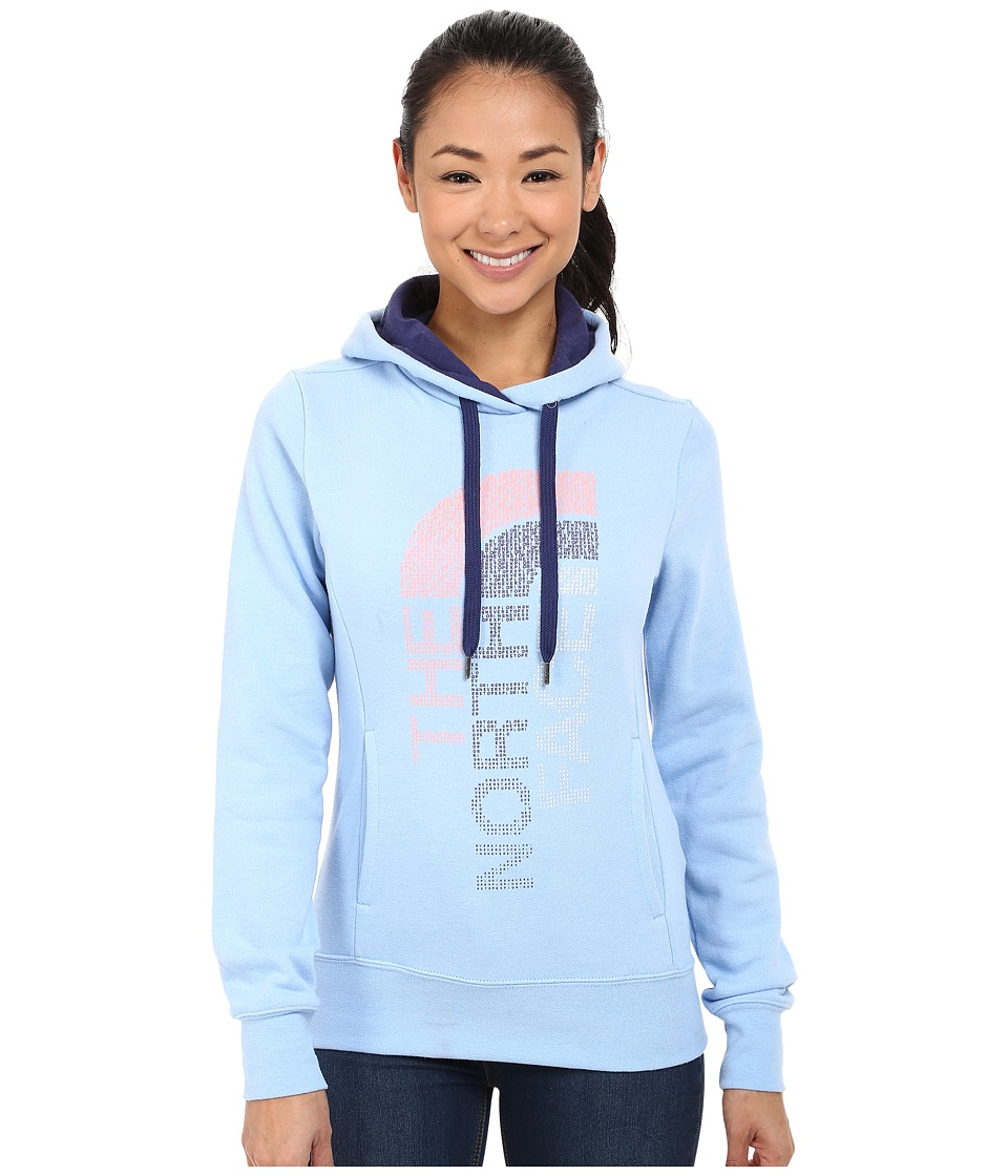 The North Face - TriVert Logo Pullover Hoodie (Powder Blue Heather/Patriot Blue) Women's Sweatshirt