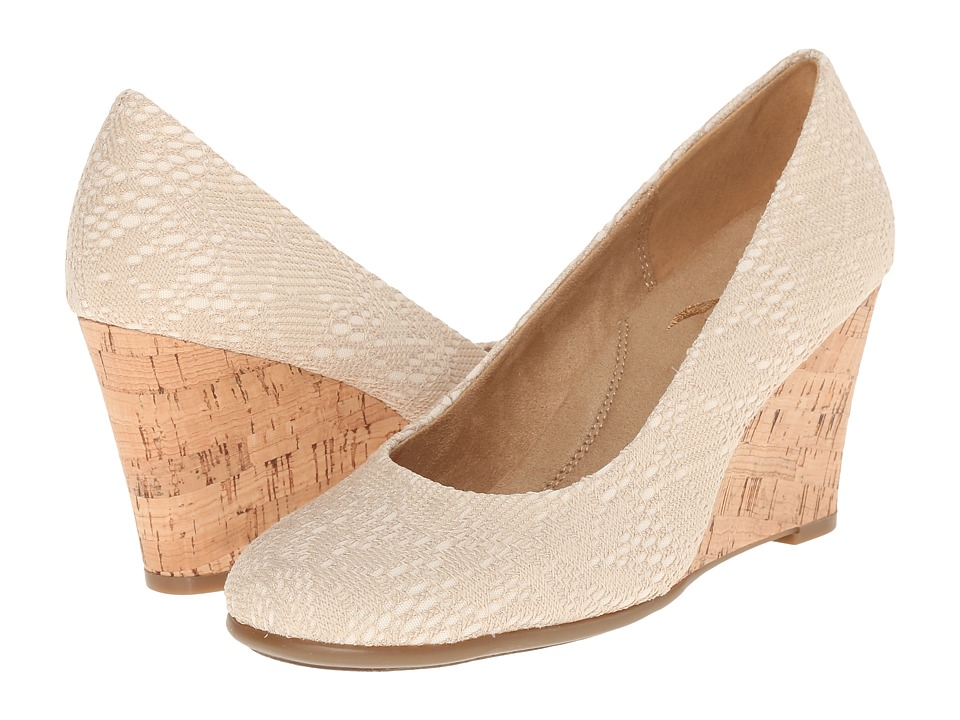 Aerosoles - Plum Tree (Natural Eyelet) Women's Wedge Shoes