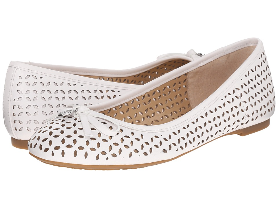MICHAEL Michael Kors - Olivia Flat (Optic White Vachetta) Women's Flat Shoes