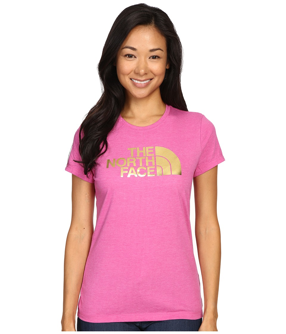 The North Face - Short Sleeve Half Dome Tee (Raspberry Rose Heather/Gold Foil) Women's T Shirt
