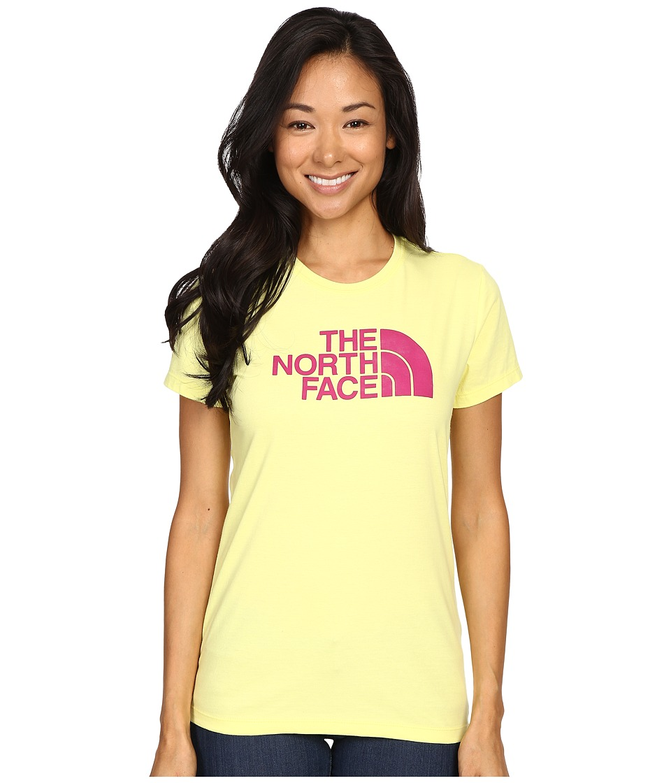 The North Face - Short Sleeve Half Dome Tee (Hamachi Yellow/Fuchsia Pink) Women's T Shirt