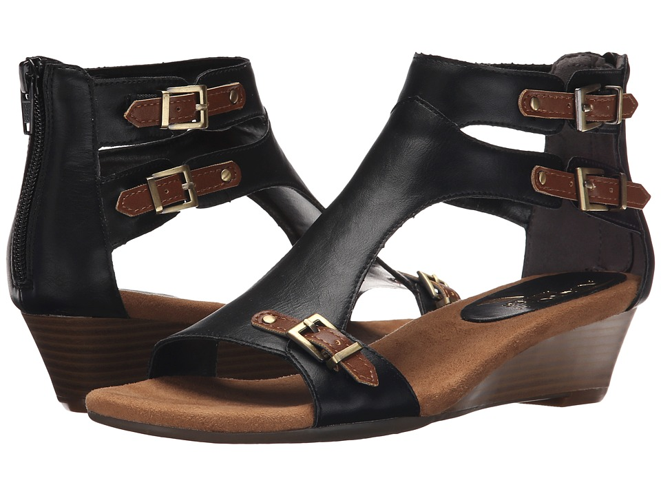 Aerosoles - Yet Another (Black Tan Combo) Women's Wedge Shoes