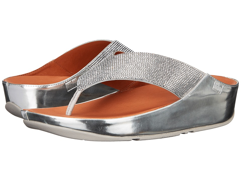 FitFlop Crystall Toe Post (Silver) Women