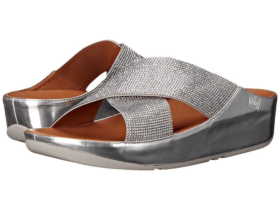 FitFlop - Crystall Slide (Silver) Women's Sandals