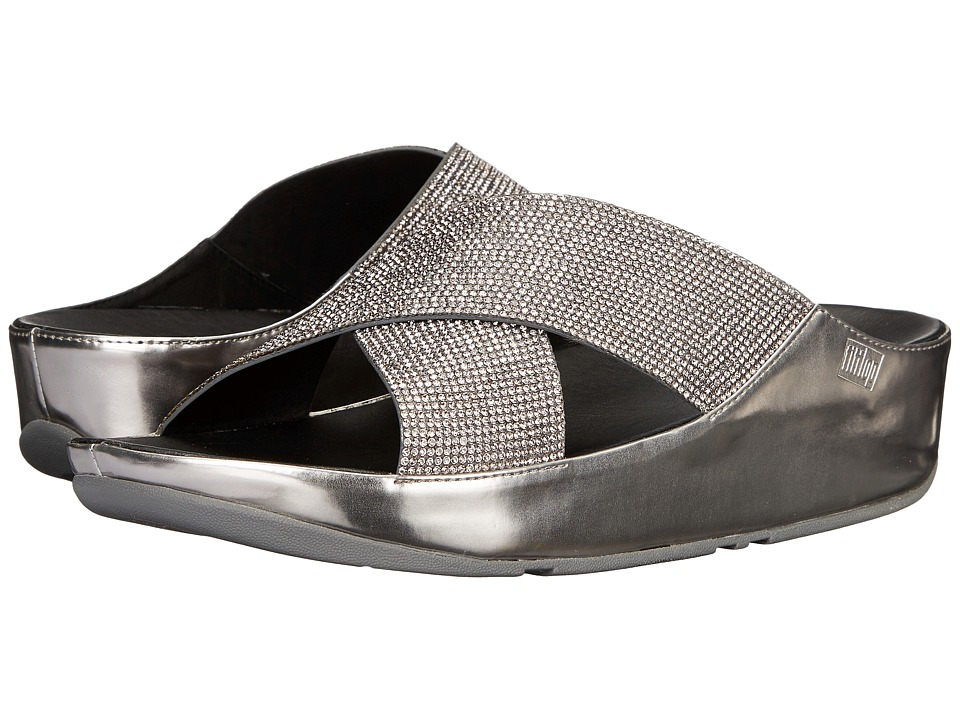 FitFlop Crystall Slide (Pewter) Women