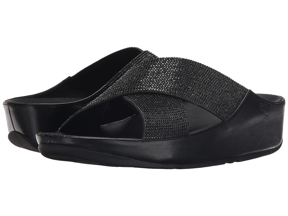 FitFlop Crystall Slide (Black) Women