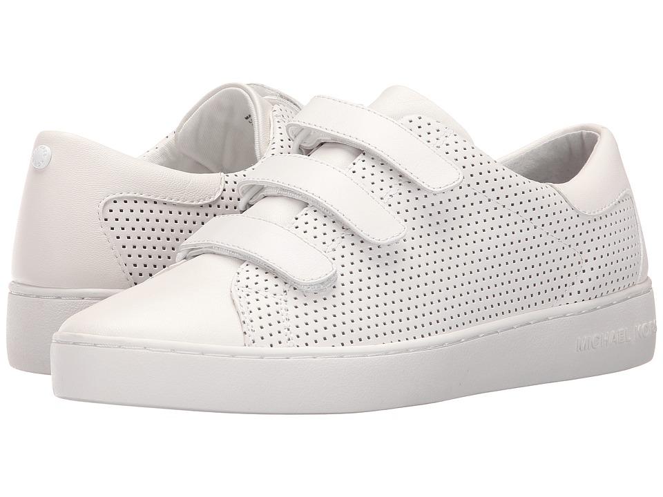 MICHAEL Michael Kors - Craig Sneaker (Optic White Vachetta Perforated/Suprema Nappa Sport) Women's Shoes