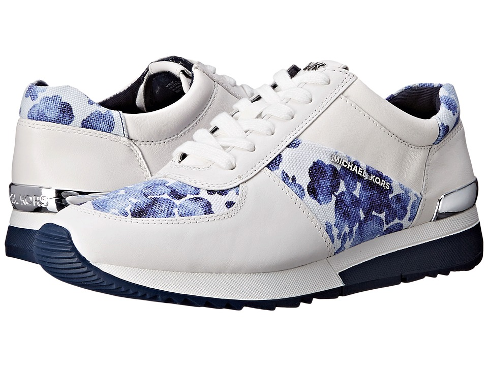 MICHAEL Michael Kors - Allie Trainer (Blue Canvas/Floral/Vachetta/Suprema Nappa) Women's Lace up casual Shoes