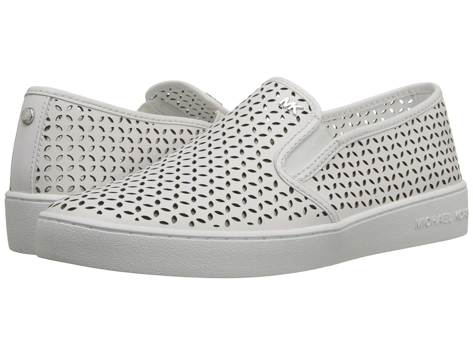 MICHAEL Michael Kors - Olivia Slip-On (Optic White Vachetta) Women