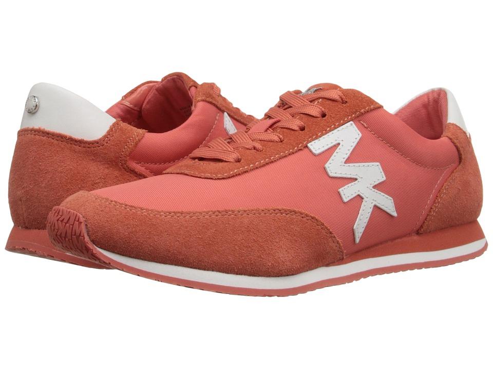 MICHAEL Michael Kors - Stanton Trainer (Pink Grapefruit Sport Suede/Nylon/Vachetta) Women's Lace up casual Shoes