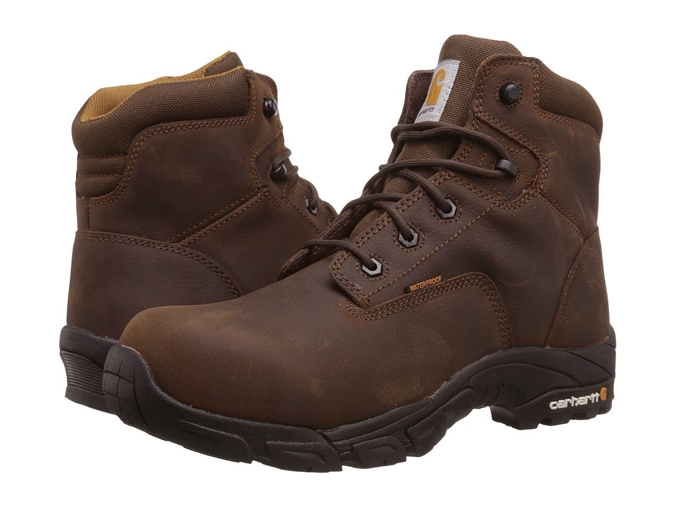 Carhartt - 6 Waterproof Work Hiker (Dark Bison Brown) Men's Hiking Boots