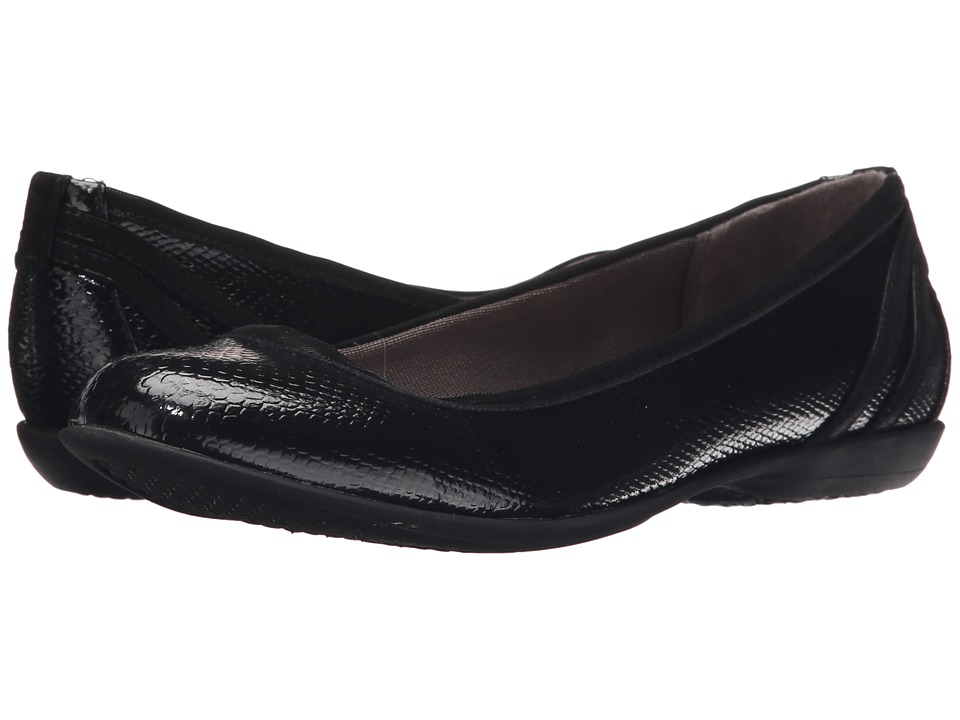 LifeStride - Airy (Black Snake Patent/Elf) Women's Flat Shoes