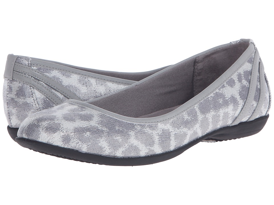 LifeStride - Airy (Silver/Slate Disco Leopard/Elf) Women's Flat Shoes