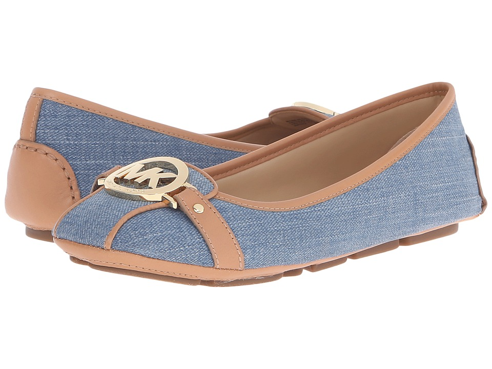 MICHAEL Michael Kors - Fulton Moc (Washed Denim Vachetta) Women's Slip on Shoes