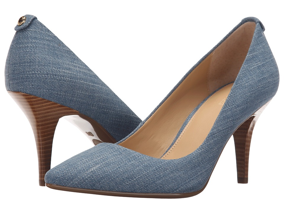 MICHAEL Michael Kors - MK Flex Mid Pump (Washed Denim) High Heels