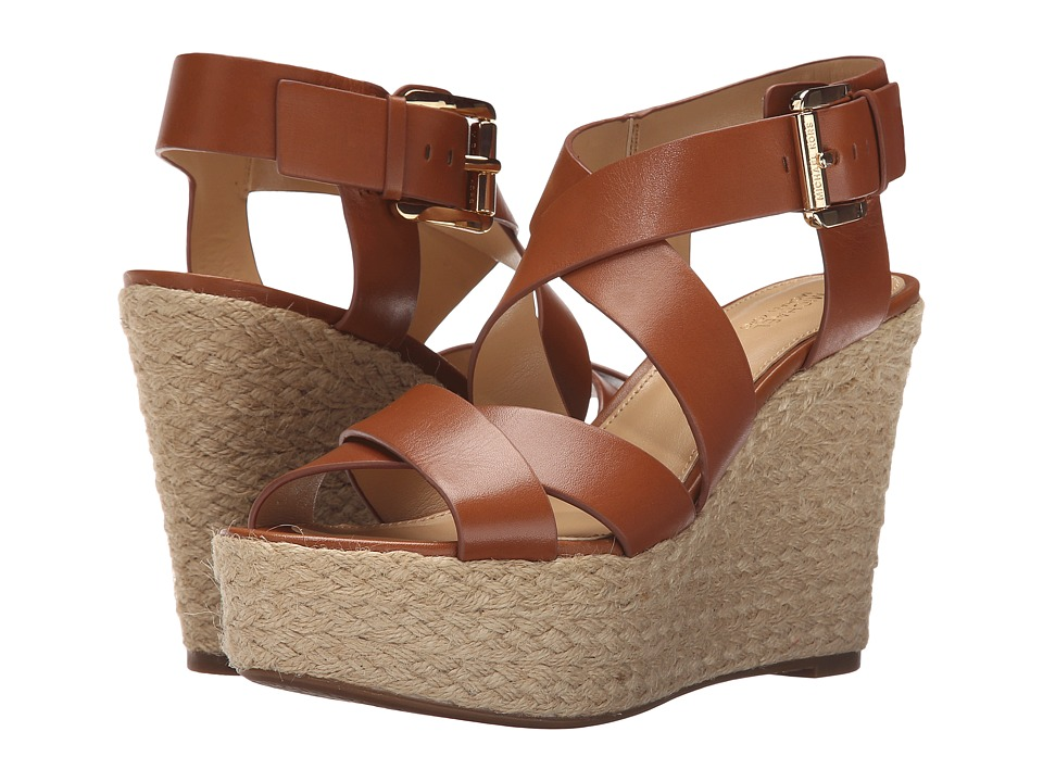 MICHAEL Michael Kors - Celia Mid Wedge (Luggage Vachetta) Women's Wedge Shoes