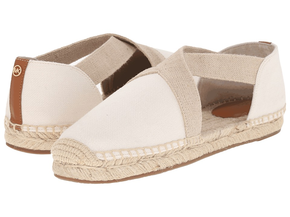 MICHAEL Michael Kors - Dana Espadrille (Natural Small Weave Canvas/Vachetta) Women